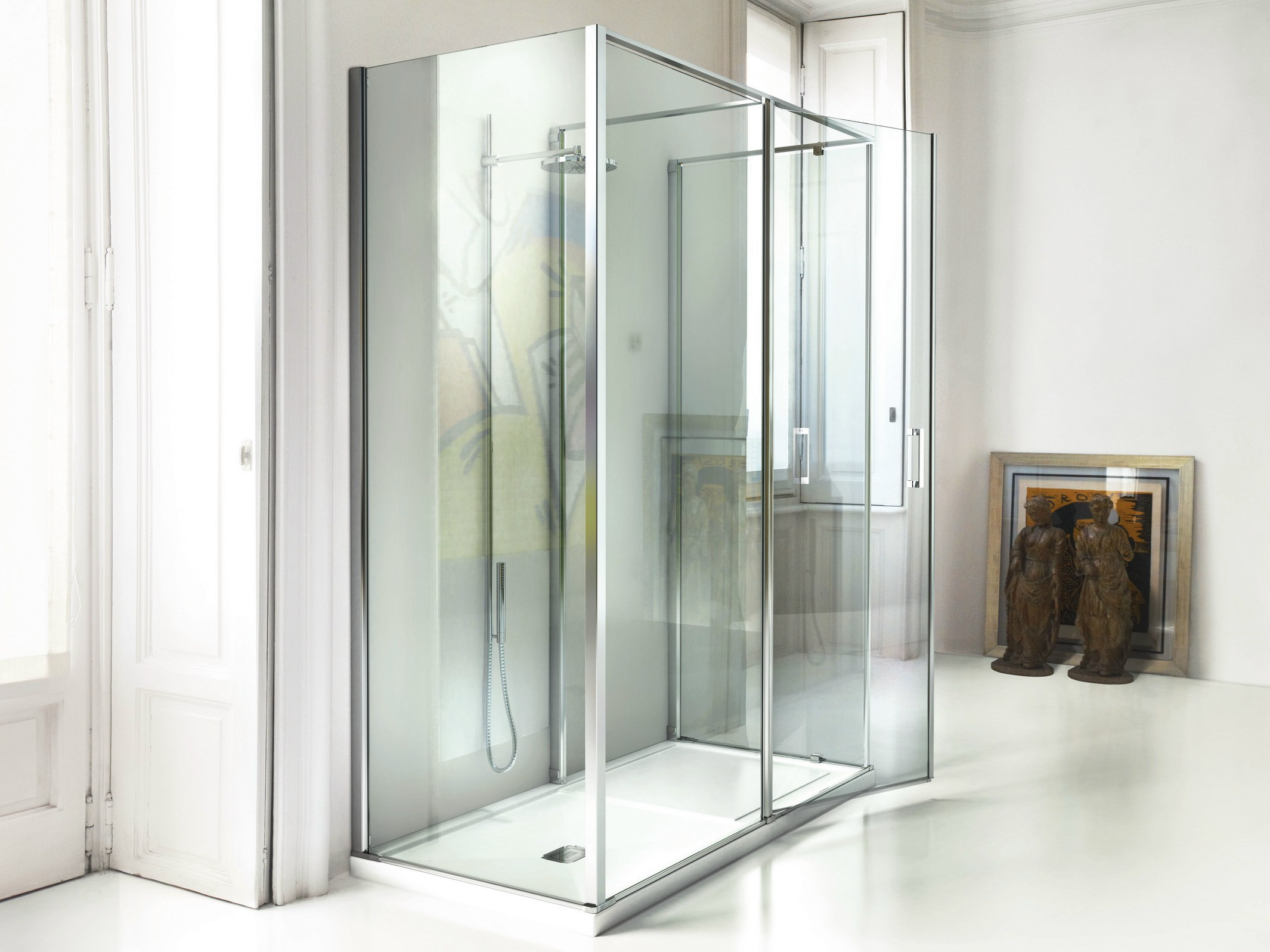 Box doccia su misura in vetro temperato in 3 by vismaravetro design fulvio de nitto centro - Box doccia in vetro prezzi ...