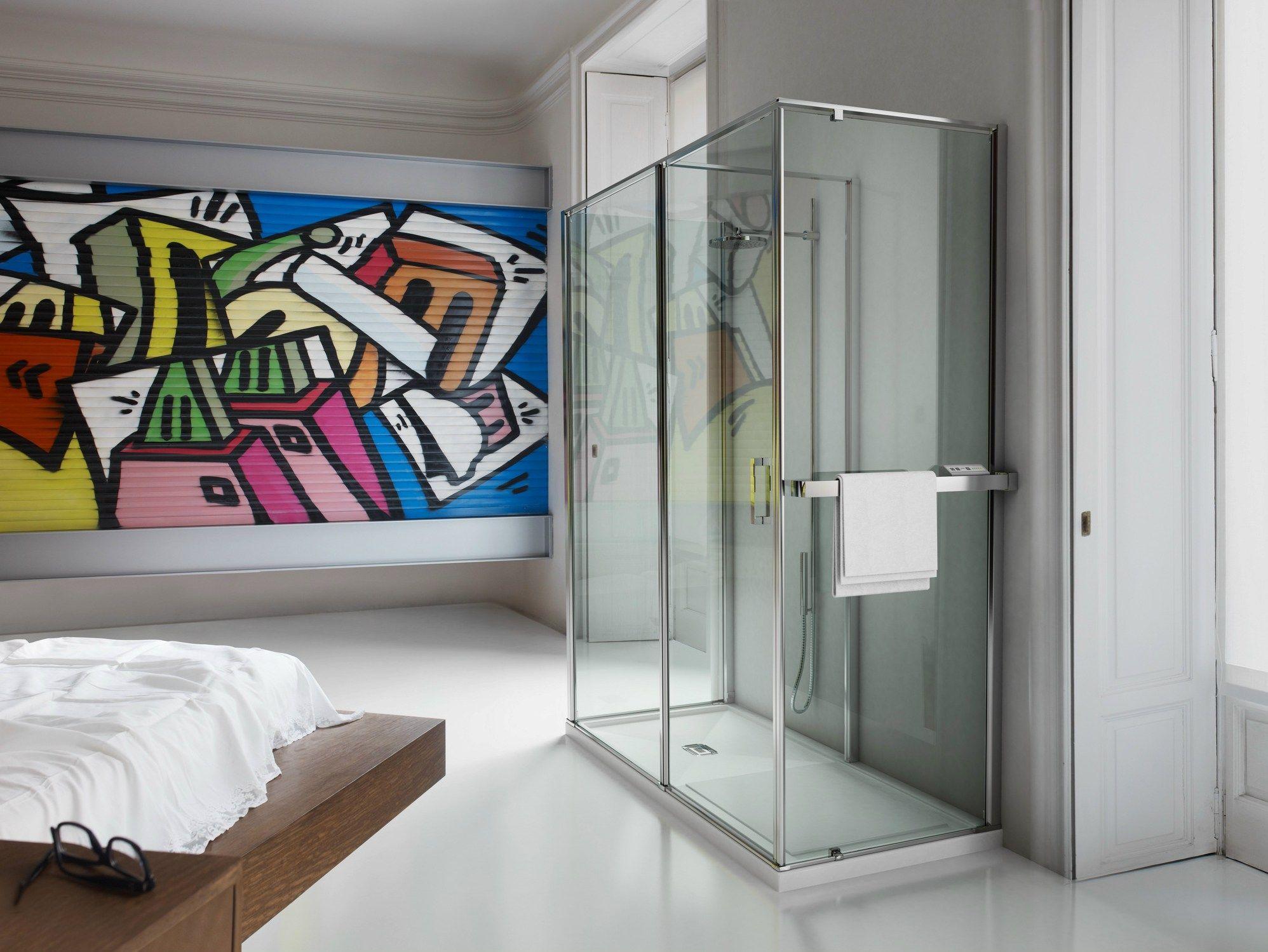 Box doccia su misura in vetro temperato in 3 by vismaravetro design fulvio de nitto centro - Box doccia in vetro ...
