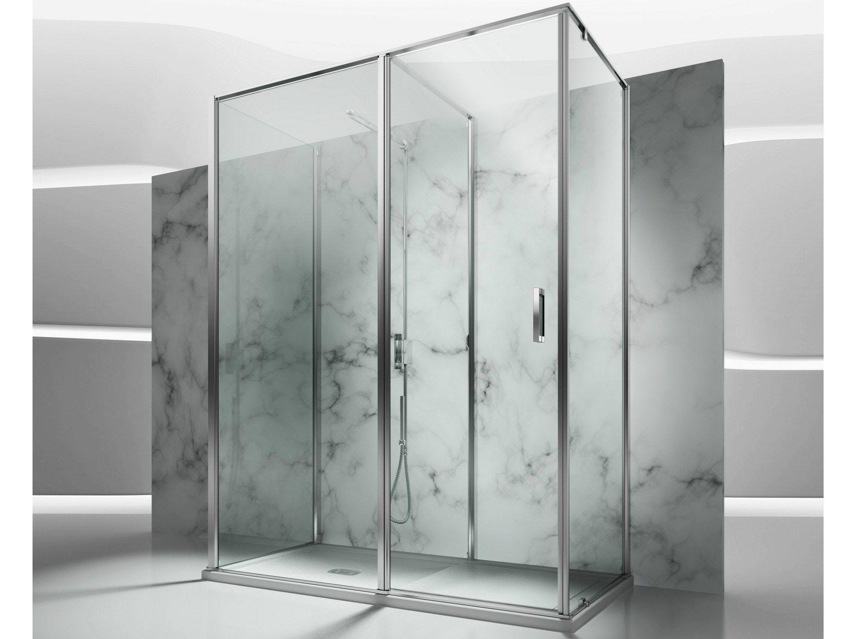 Box doccia su misura in vetro temperato in 3 by vismaravetro design fulvio de nitto centro - Box doccia su misura milano ...