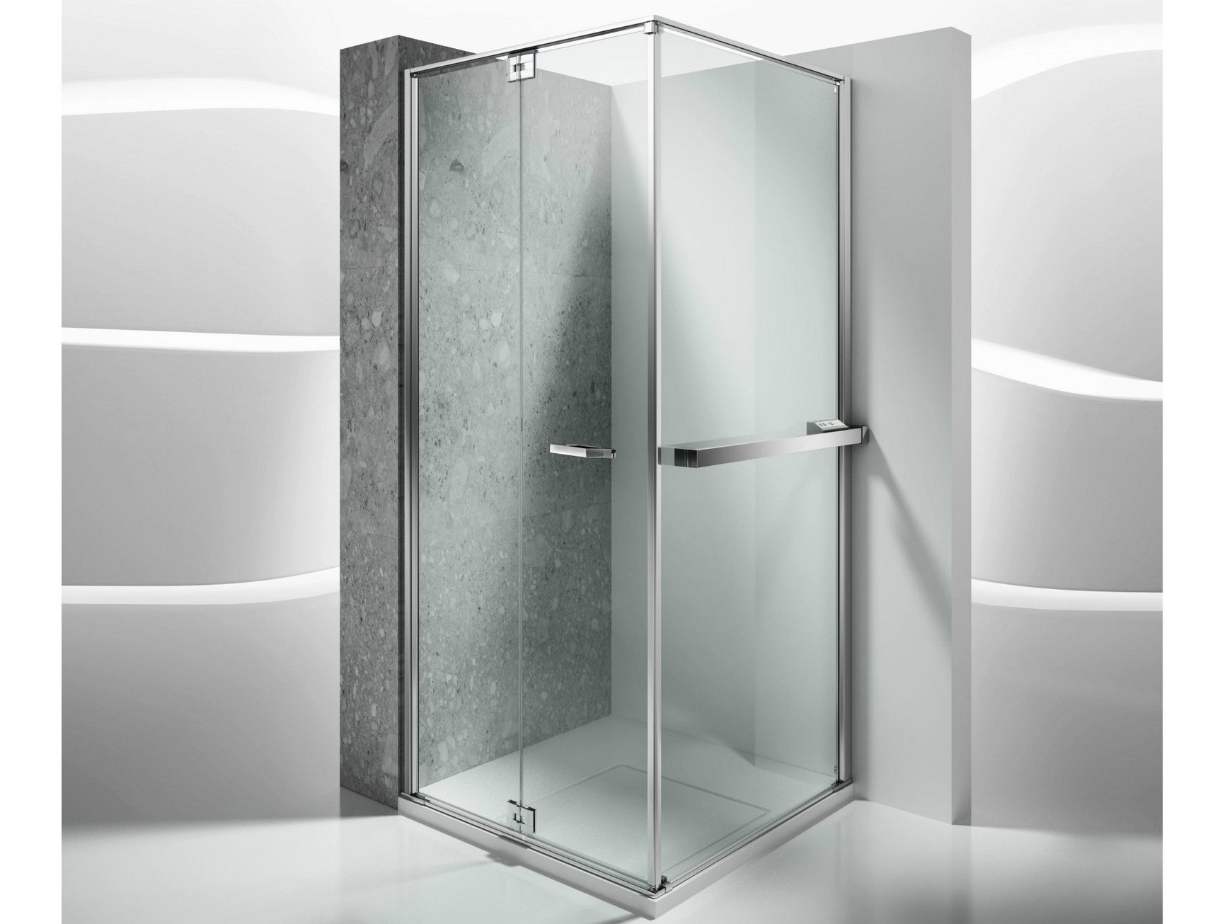 Paroi de douche chauffante sur mesure en verre tremp parois chauffante pour - Paroi de douche sur mesure castorama ...