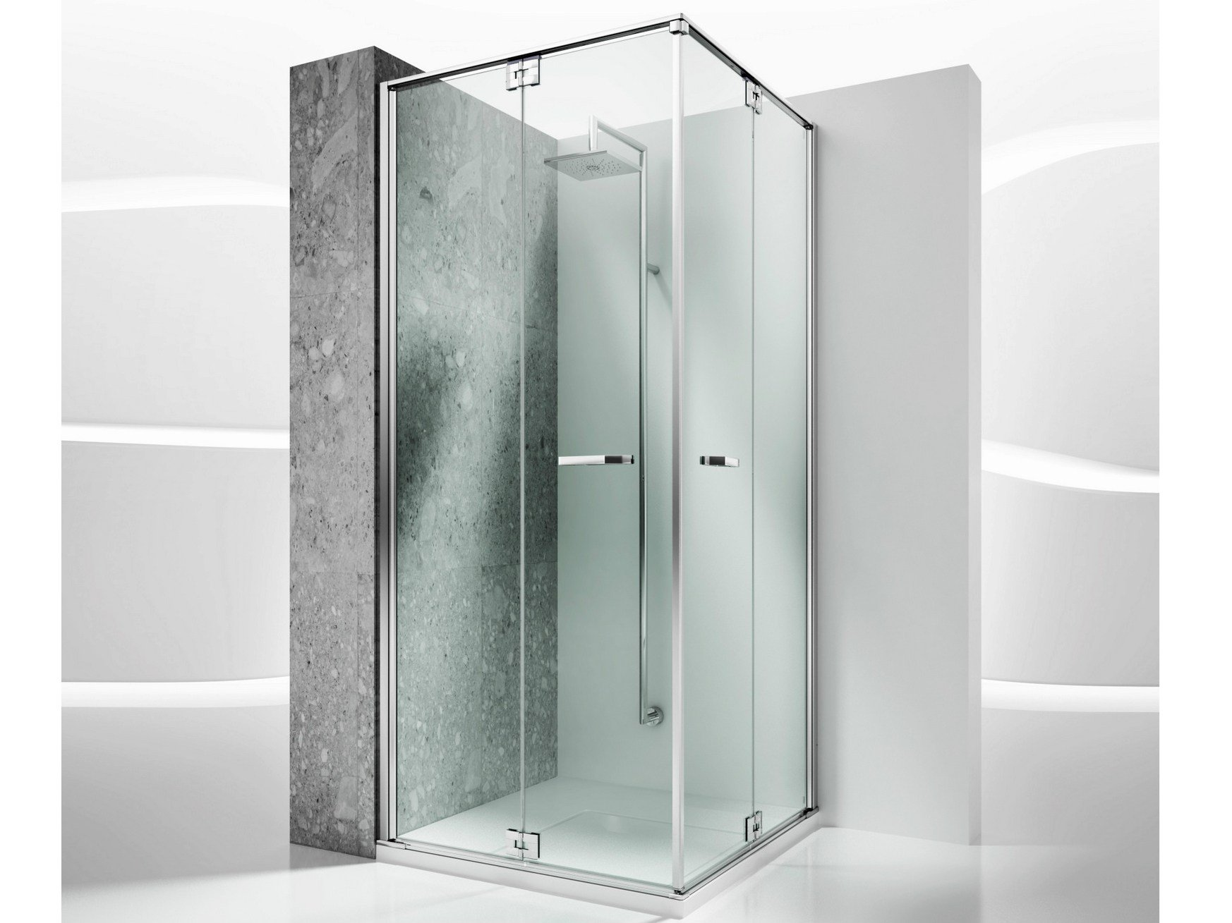 Cabinas De Ducha Medidas:Tempered Glass Shower