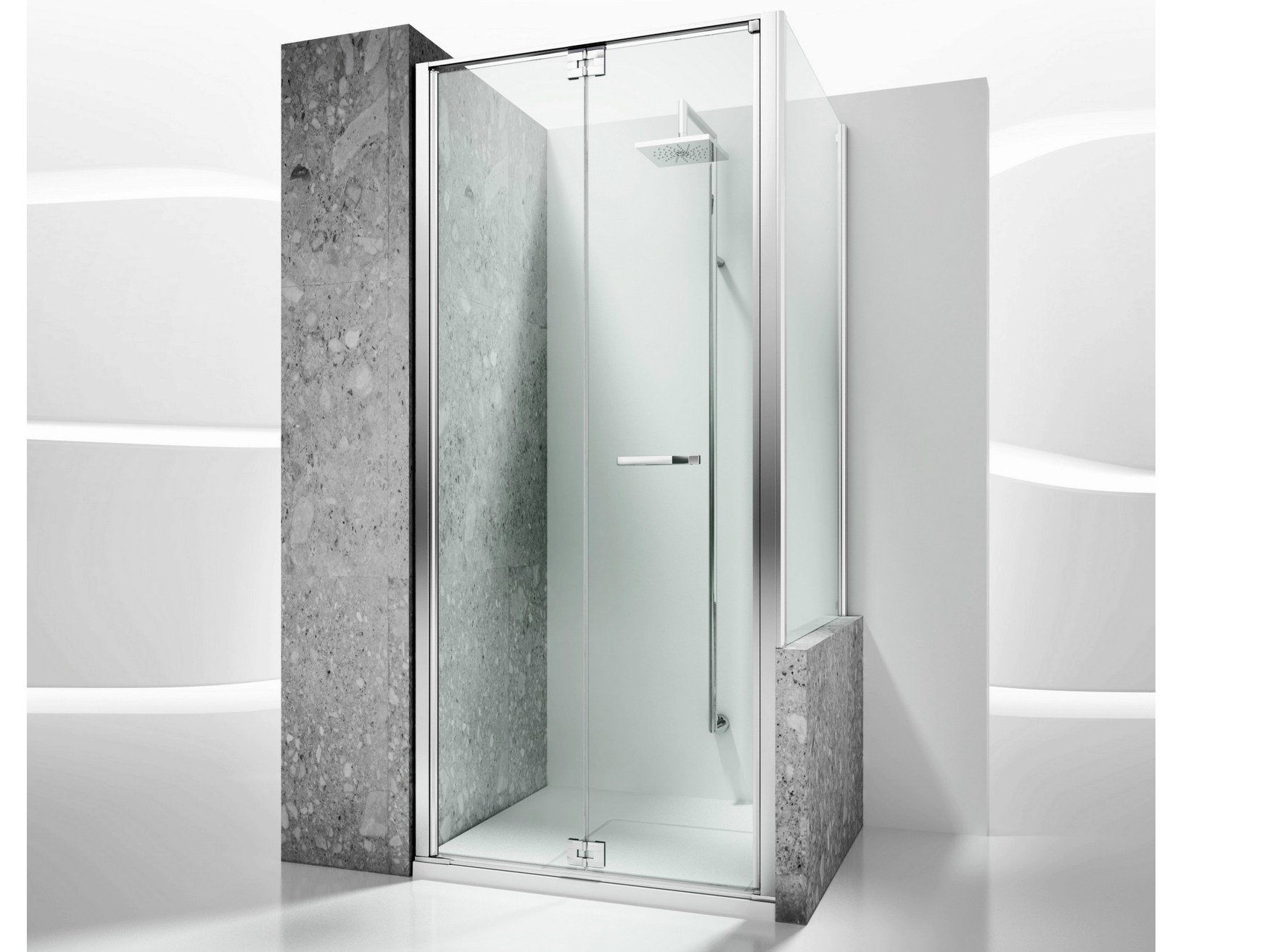 Paroi de douche sur mesure en verre tremp replay rn rv by for Douche italienne sur mesure
