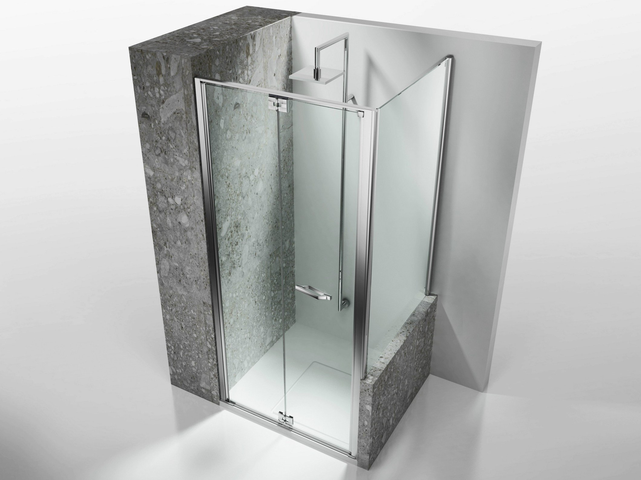 Paroi de douche sur mesure en verre tremp replay rn rv by for Parois de douche en verre
