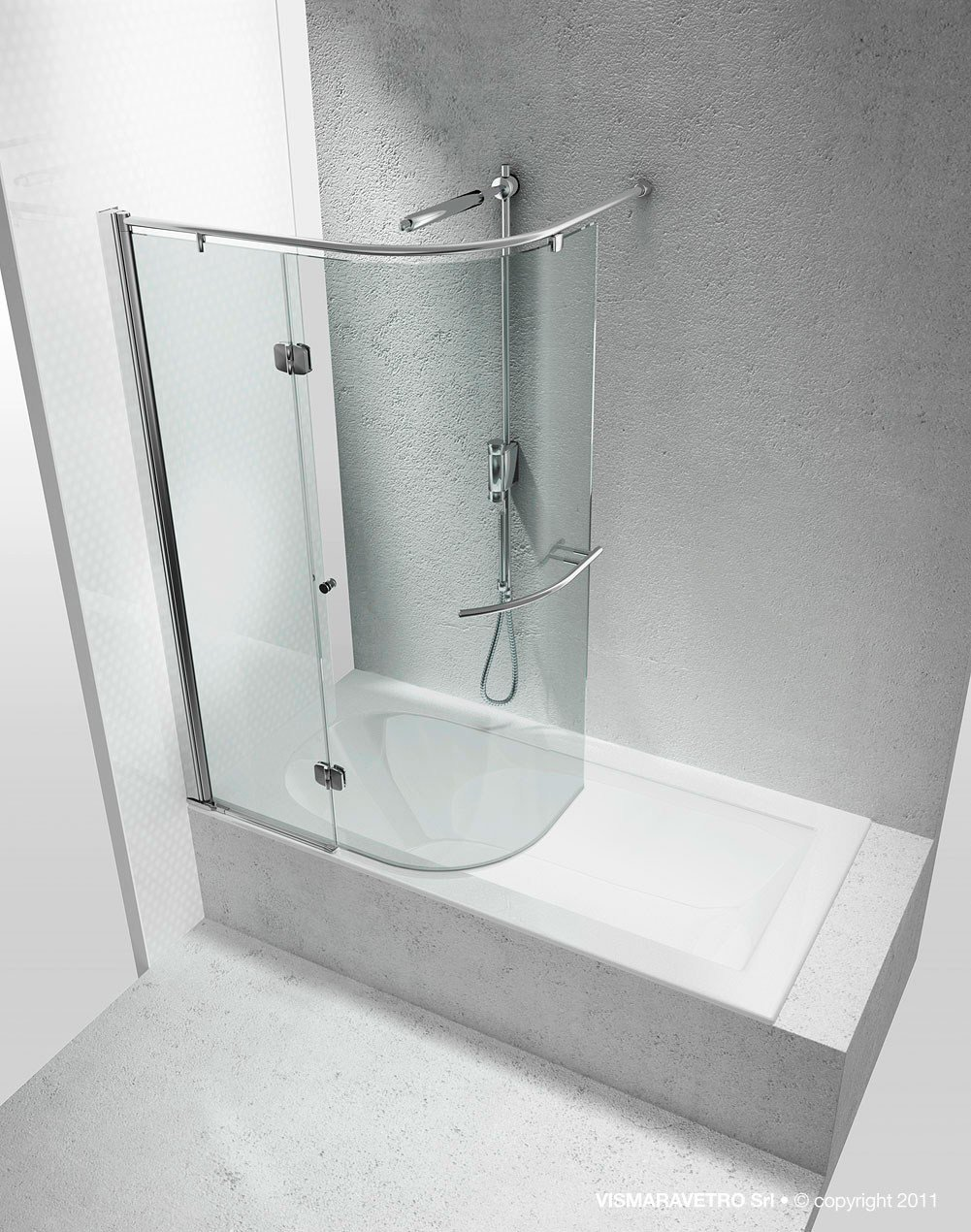 Tempered Glass Bathtub Wall Panel Replay Sr Replay