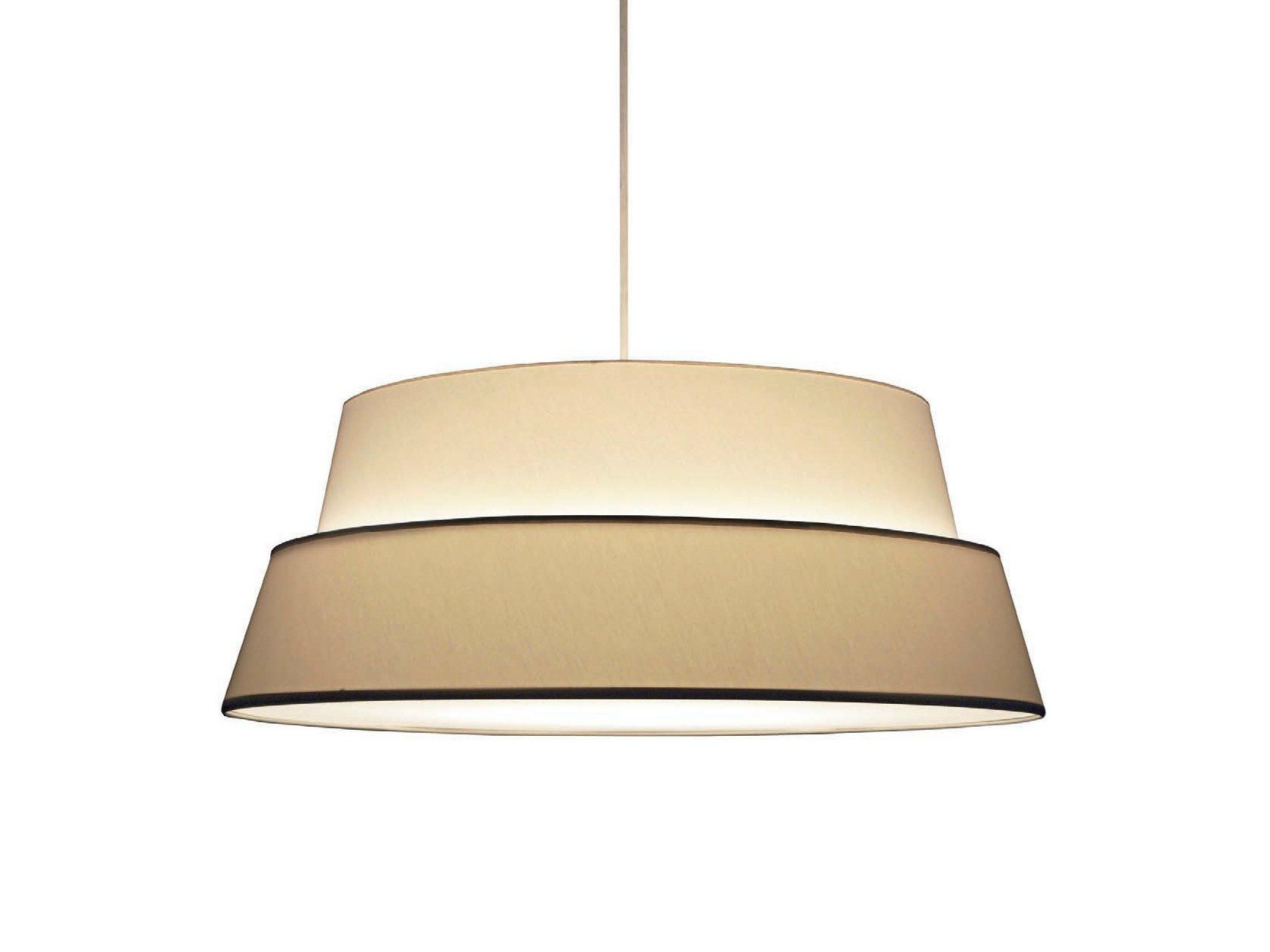 direct light fabric pendant l photo by objekto design