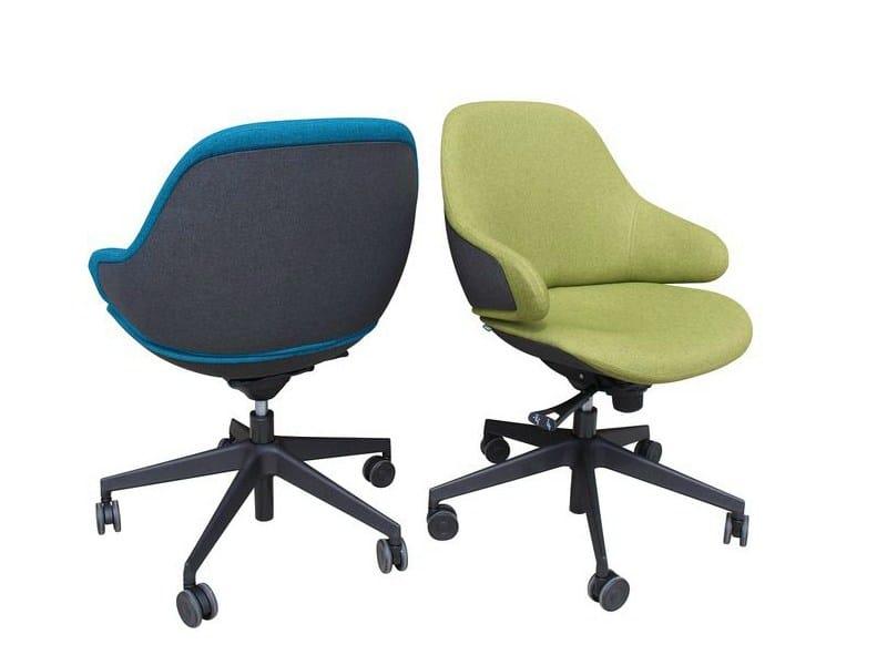 Petit fauteuil pivotant roulettes ciel office - Petit fauteuil pivotant ...