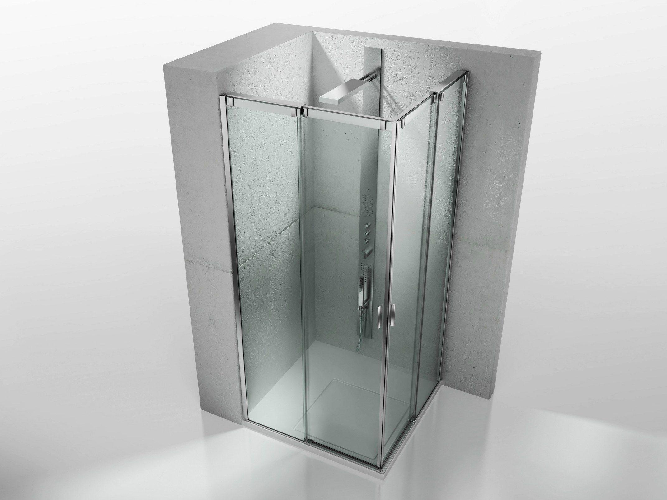 Porte de douche coulissante fabrik verre transparent of - Poignee porte de douche ...