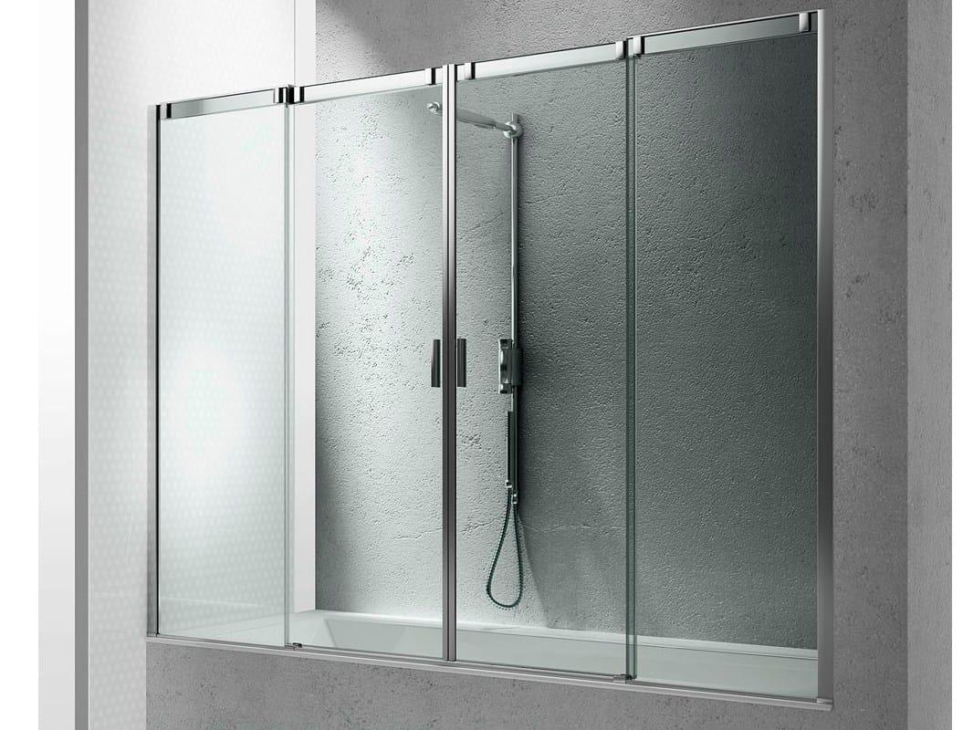 Parete Vetro Vasca Bagno : Glass Bathtub Wall Panel