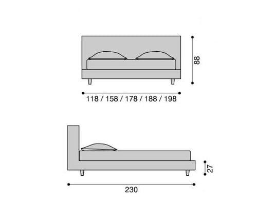 molton letto singolo by letti co design paola navone. Black Bedroom Furniture Sets. Home Design Ideas