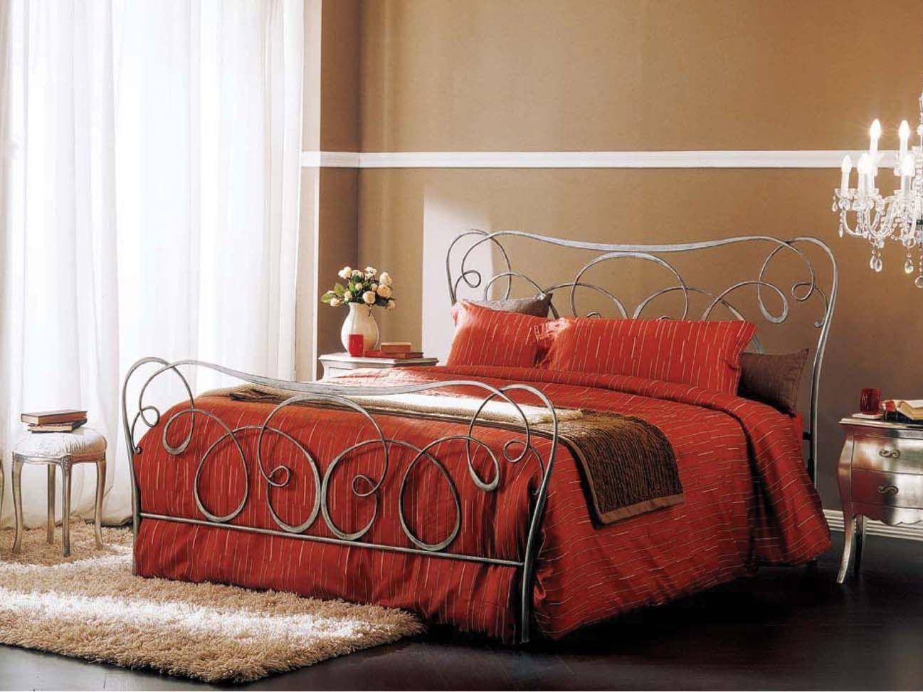 iron double bed altea by bontempi design studio carlesi design - Letto Foglia Argento Fantasy Bontempi
