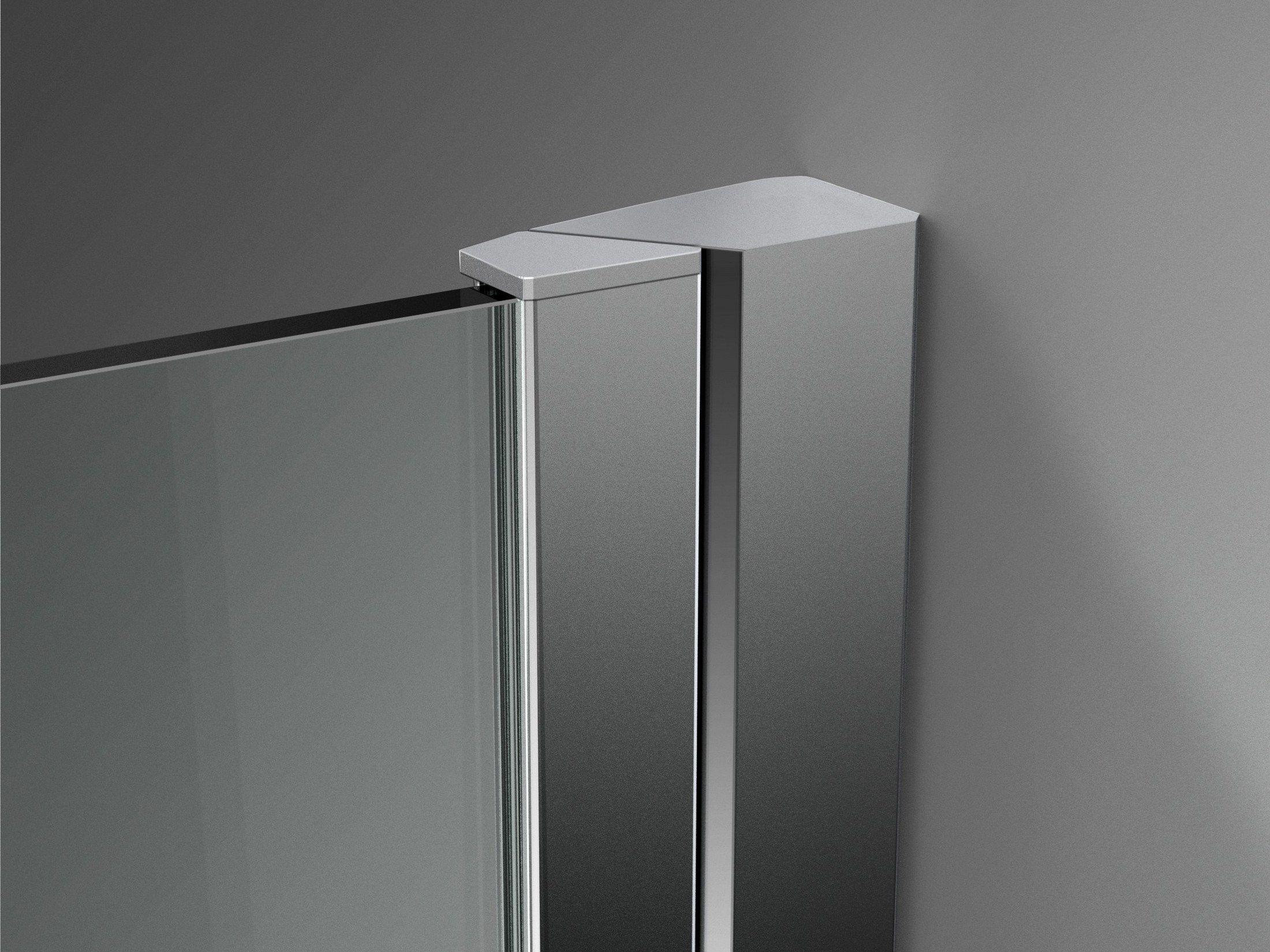 Cabine de douche d 39 angle sur mesure en verre tremp for Douche en verre trempe