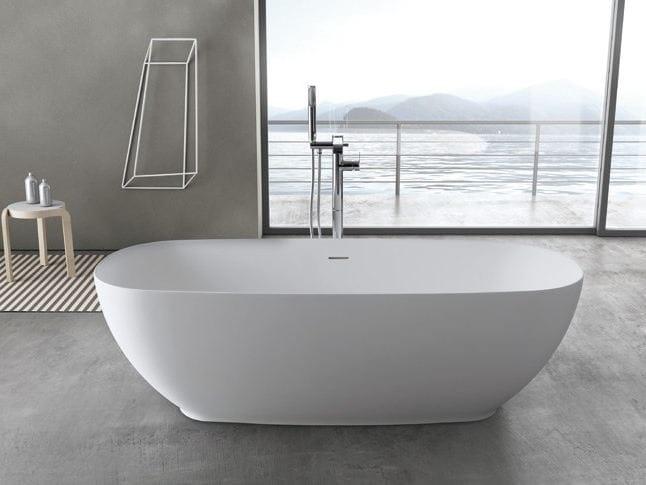 Cloe c400 vasca da bagno ovale by rab arredobagno - Vasche da bagno centro stanza ...