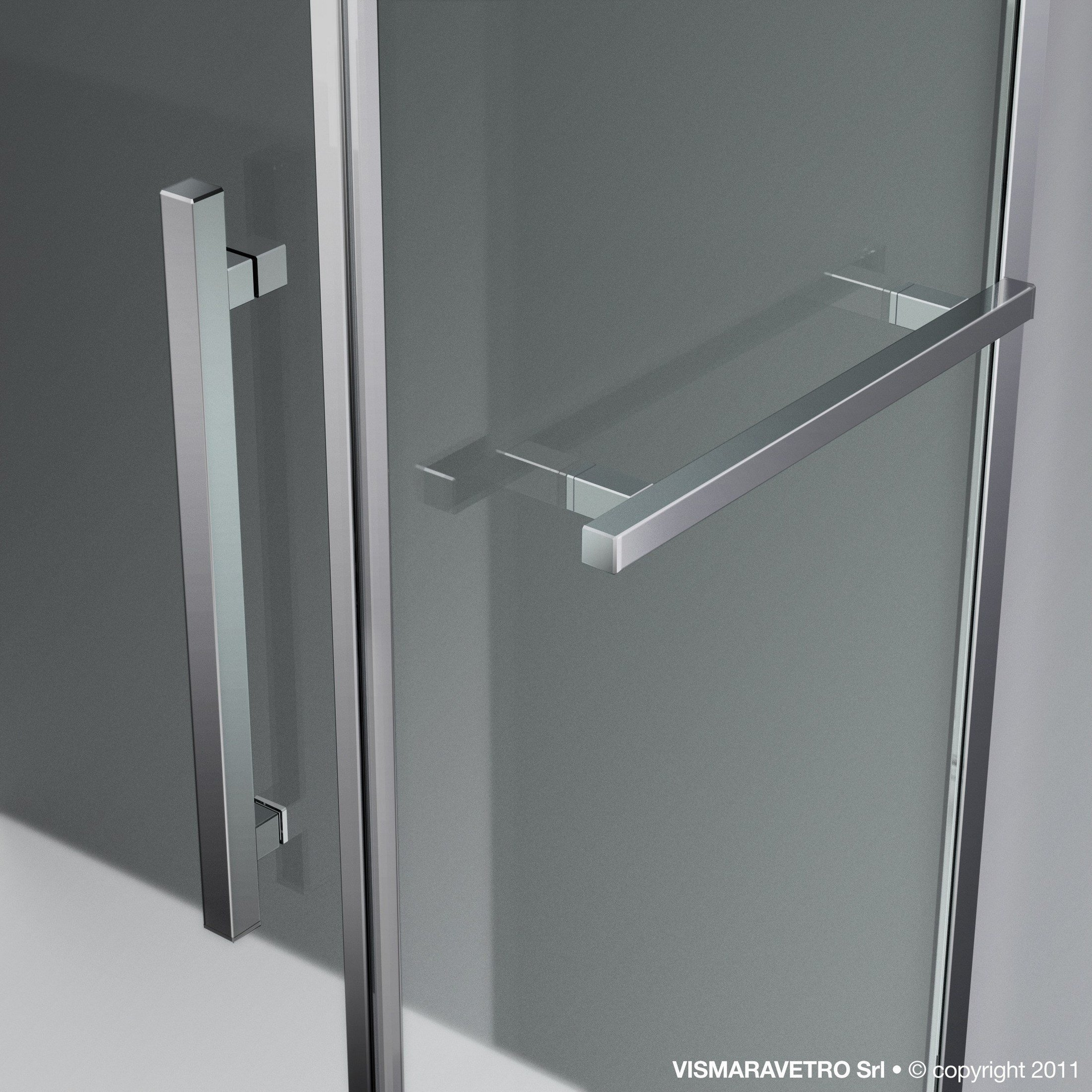 Mampara de ducha a medida de vidrio templado tiquadro qm - Mampara vidrio templado ...