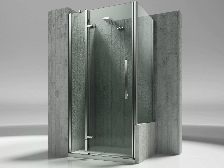 Parete per doccia su misura in vetro temperato tiquadro qn qp collezione tiquadro by - Pareti doccia su misura ...