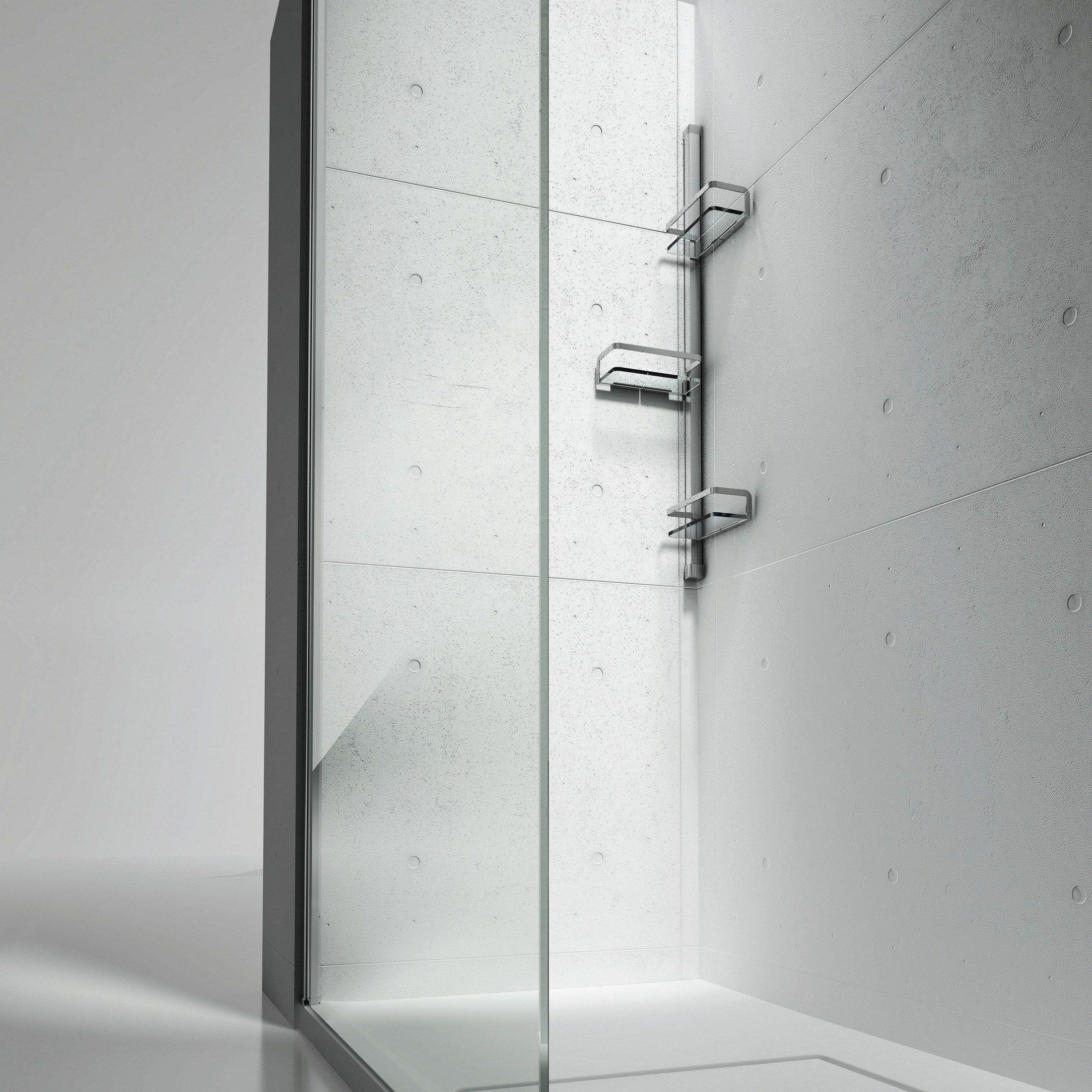 Colonna attrezzata per doccia basket by vismaravetro - Accessori bagno portaoggetti ...