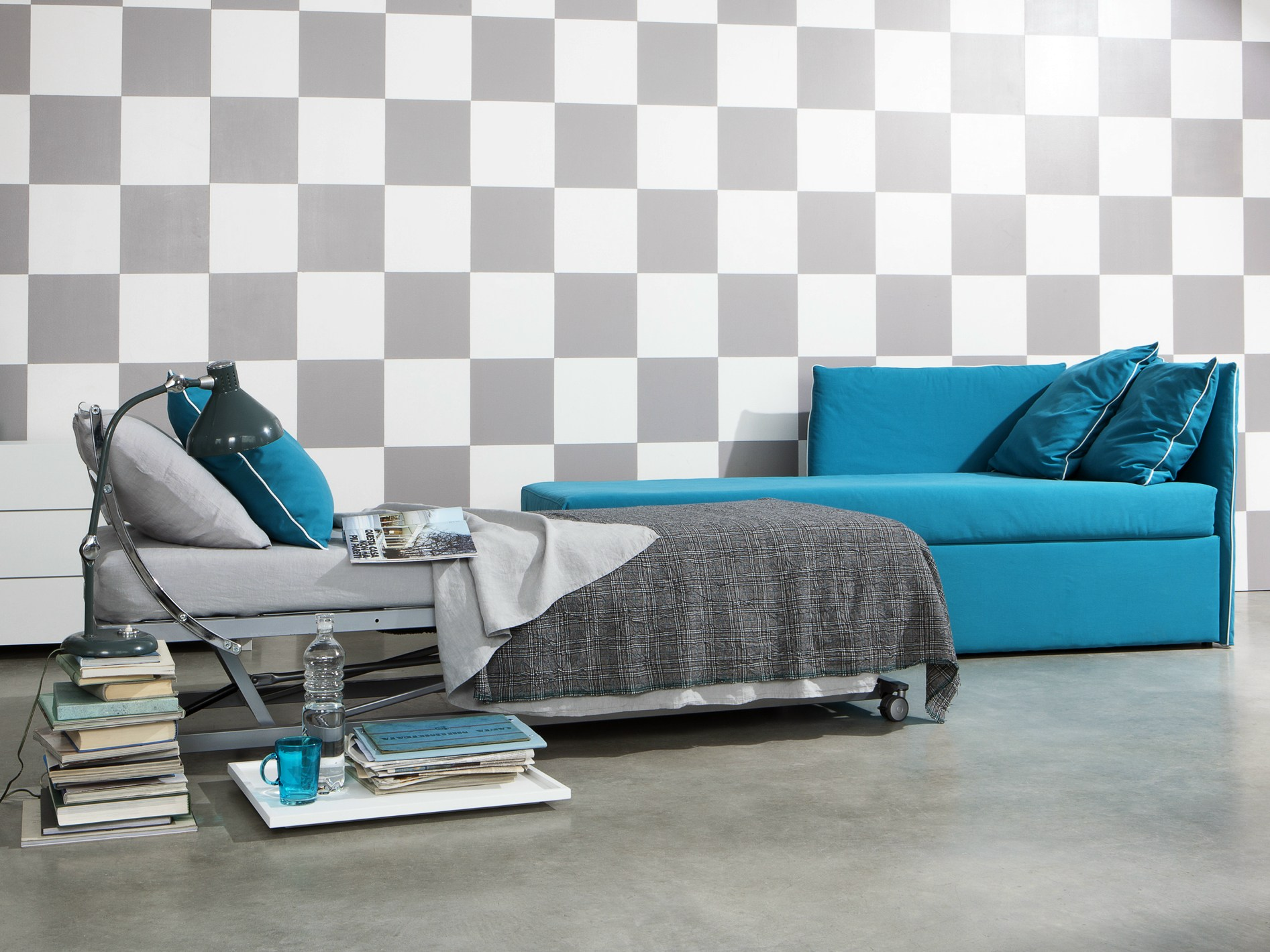 Convertible sofa bed OPEN by Letti&Co. design Paola Navone