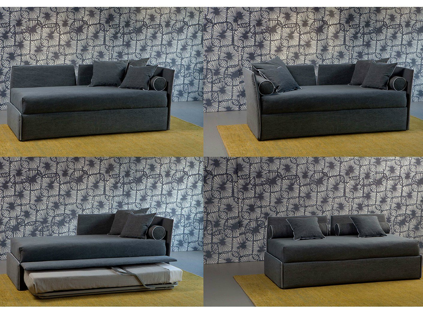 Convertible Sofa Bed OPEN By Letti Co Design Paola Navone