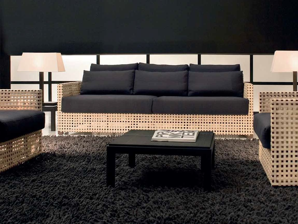 3 seater sofa wk 581s3t by gervasoni design paola navone. Black Bedroom Furniture Sets. Home Design Ideas