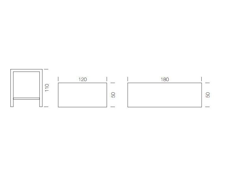 mange debout rectangulaire en stratifi break by gaber design eurolinea. Black Bedroom Furniture Sets. Home Design Ideas