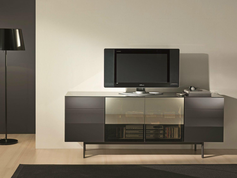 aly hi fi lacquered tv cabinet by bontempi casa design. Black Bedroom Furniture Sets. Home Design Ideas