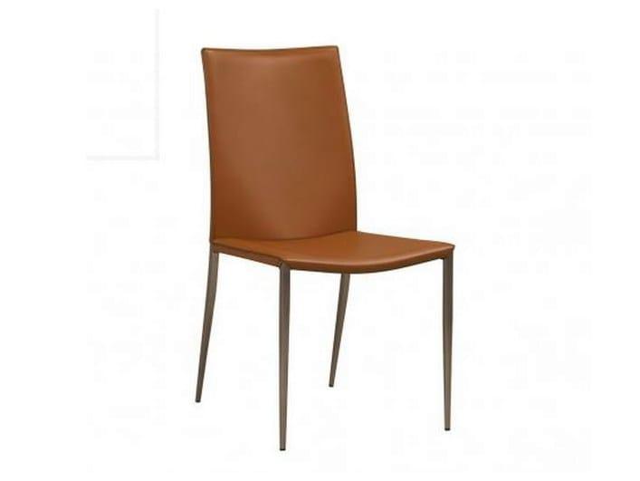 sedia in pelle eden gautier france. Black Bedroom Furniture Sets. Home Design Ideas