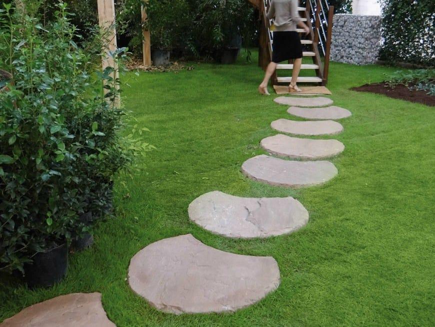 pedra jardim caminho:Caminho de jardim de pedra natural MULTICOLOR