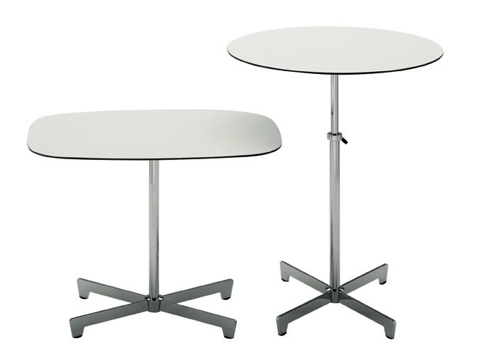 Table basse r glable en hauteur swiss by de padova design for Table basse reglable hauteur