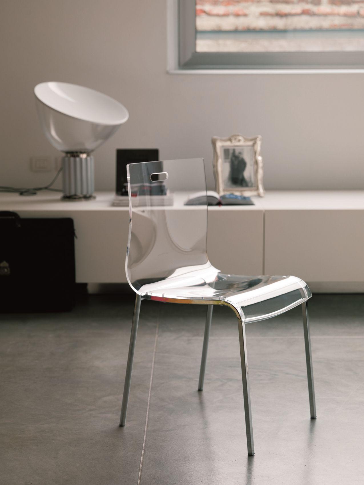 Sedia in acciaio in stile moderno felix by bontempi casa for Casa in stile moderno