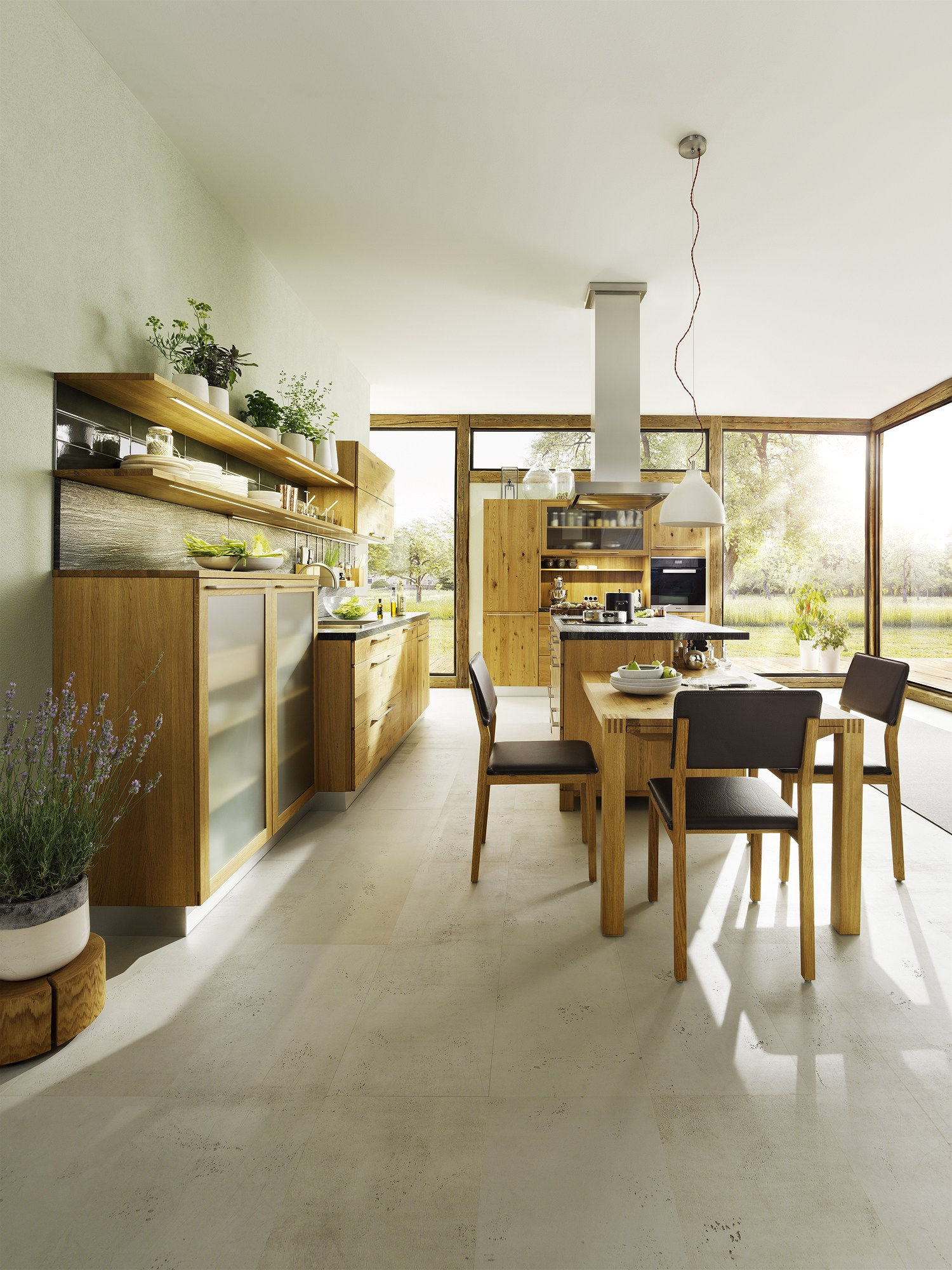 wooden kitchen with island loft by team 7 nat rlich wohnen. Black Bedroom Furniture Sets. Home Design Ideas