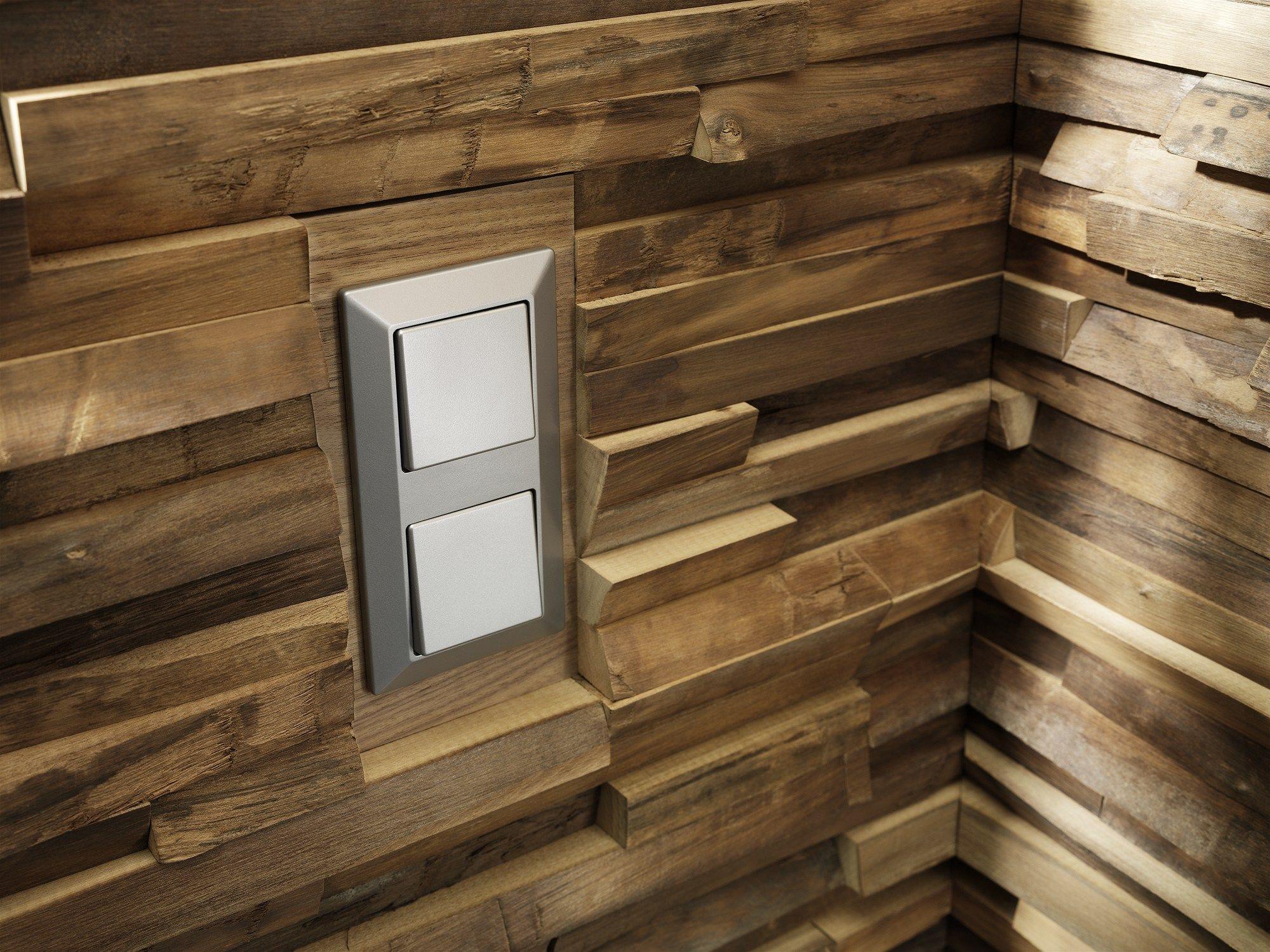 Revetement Mural Bois Interieur : Rev?tement mural 3D en bois pour int?rieur WALDKANTE by TEAM 7