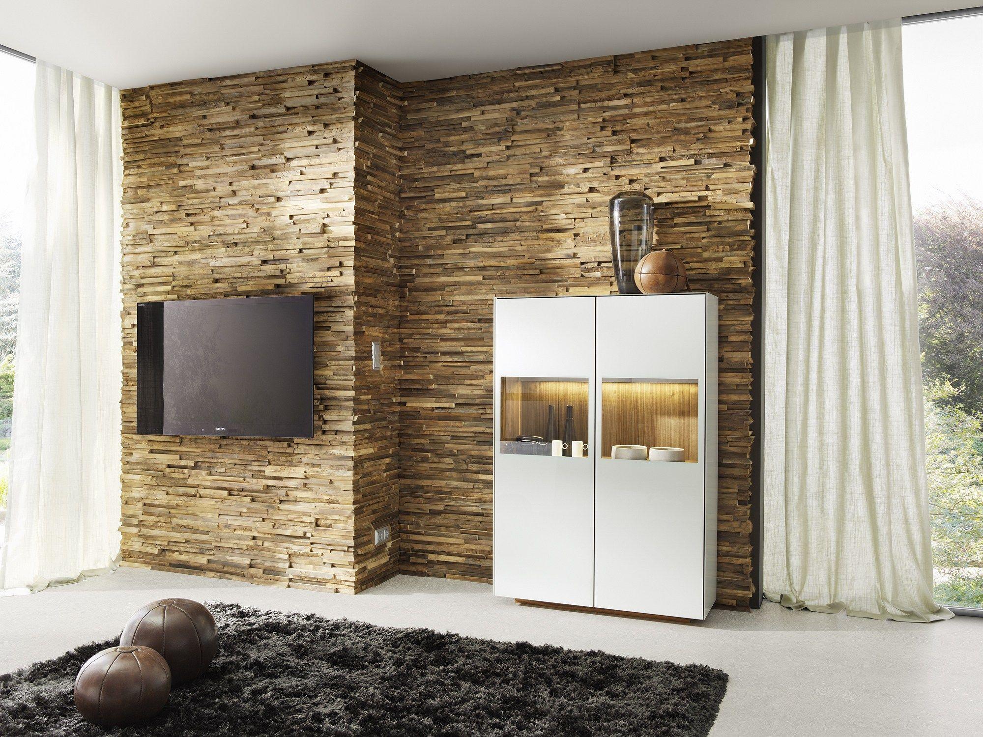 Revestimiento de pared 3d de madera maciza para interiores - Revestimiento de pared ...