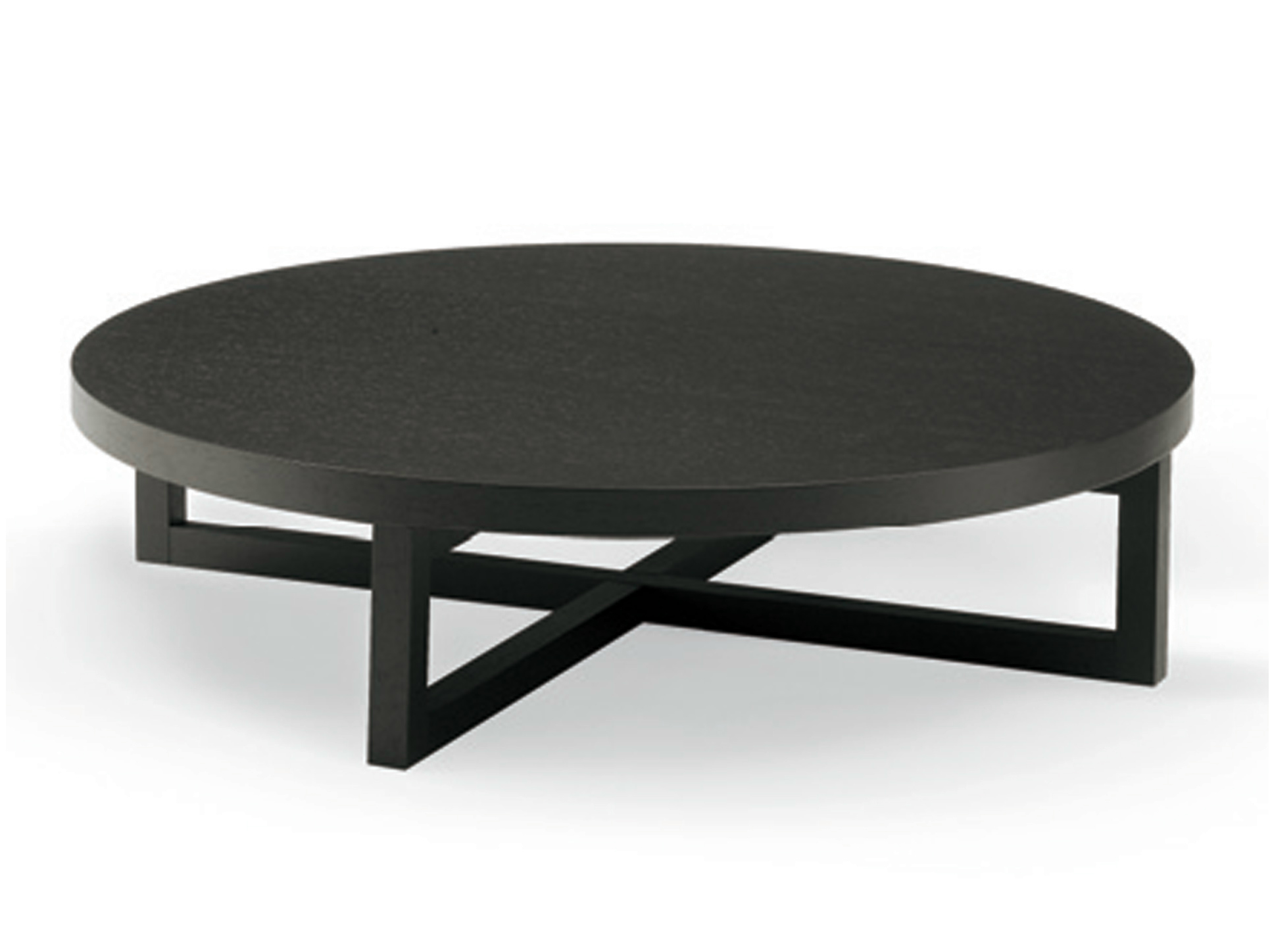 LOW ROUND WOODEN COFFEE TABLE YARD BY POLIFORM | DESIGN ...