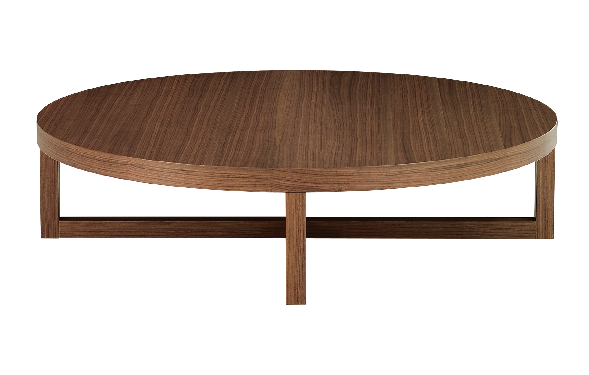 Low round wooden coffee table yard by poliform design paolo piva Round coffee tables