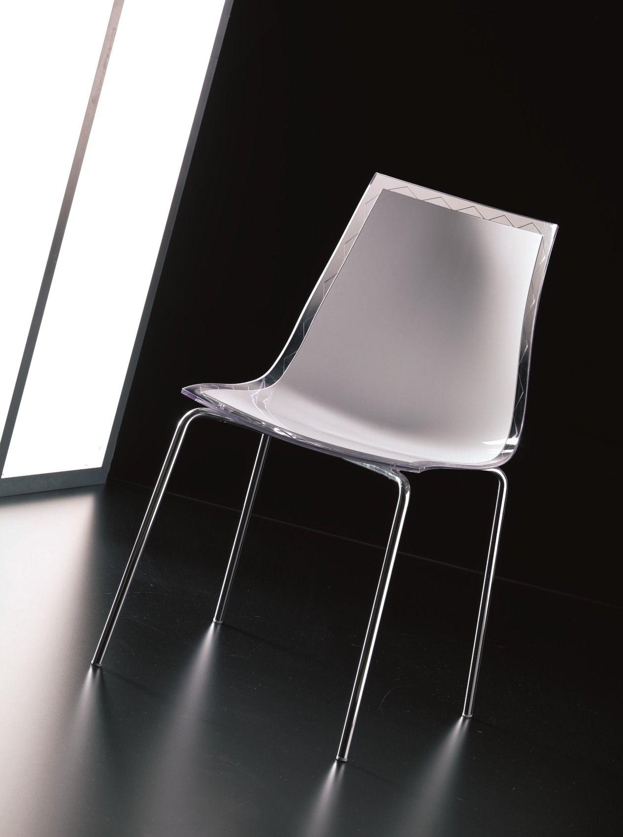 Polycarbonate chair LEYLA Chair Bontempi Casa #715E5A