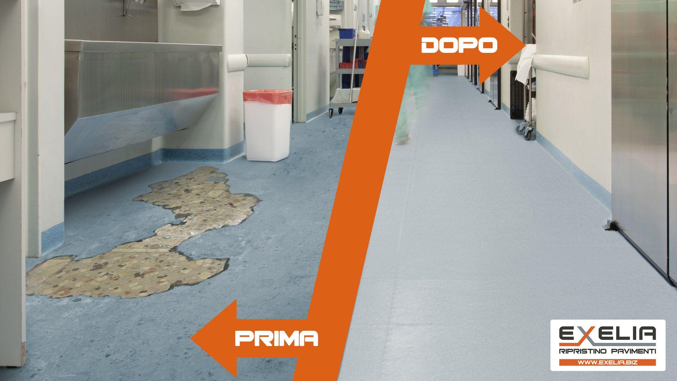 Ripristino pavimenti exelia by m p i - Piastrelle garage prezzi ...