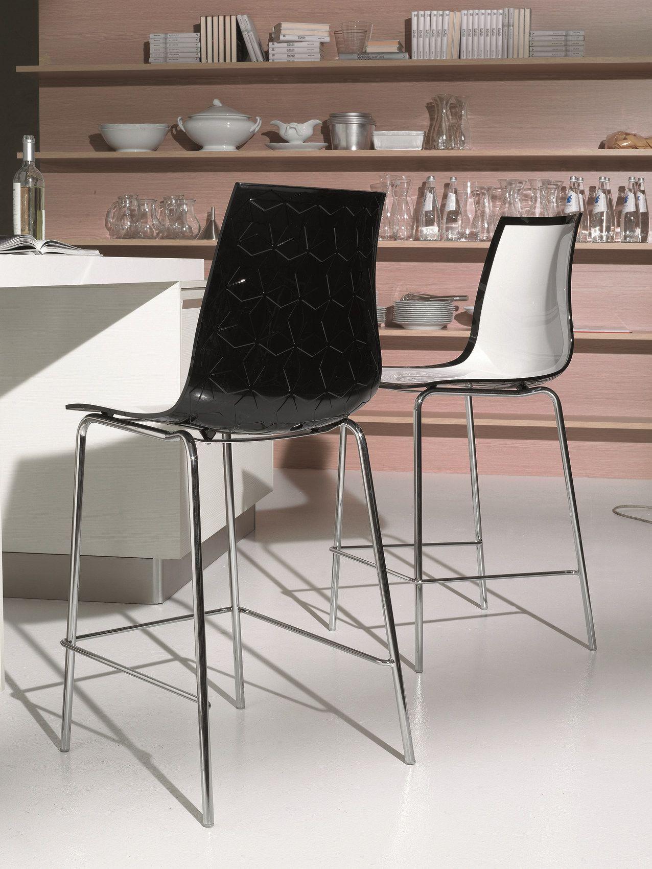 Sedia alta in policarbonato leyla collezione sgabelli by for Rivenditori sedie