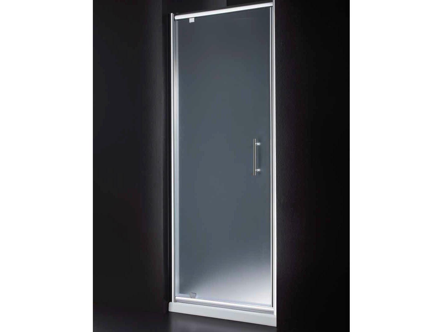 Box doccia a nicchia in vetro con porte a battente inn b05 for Porte a battente