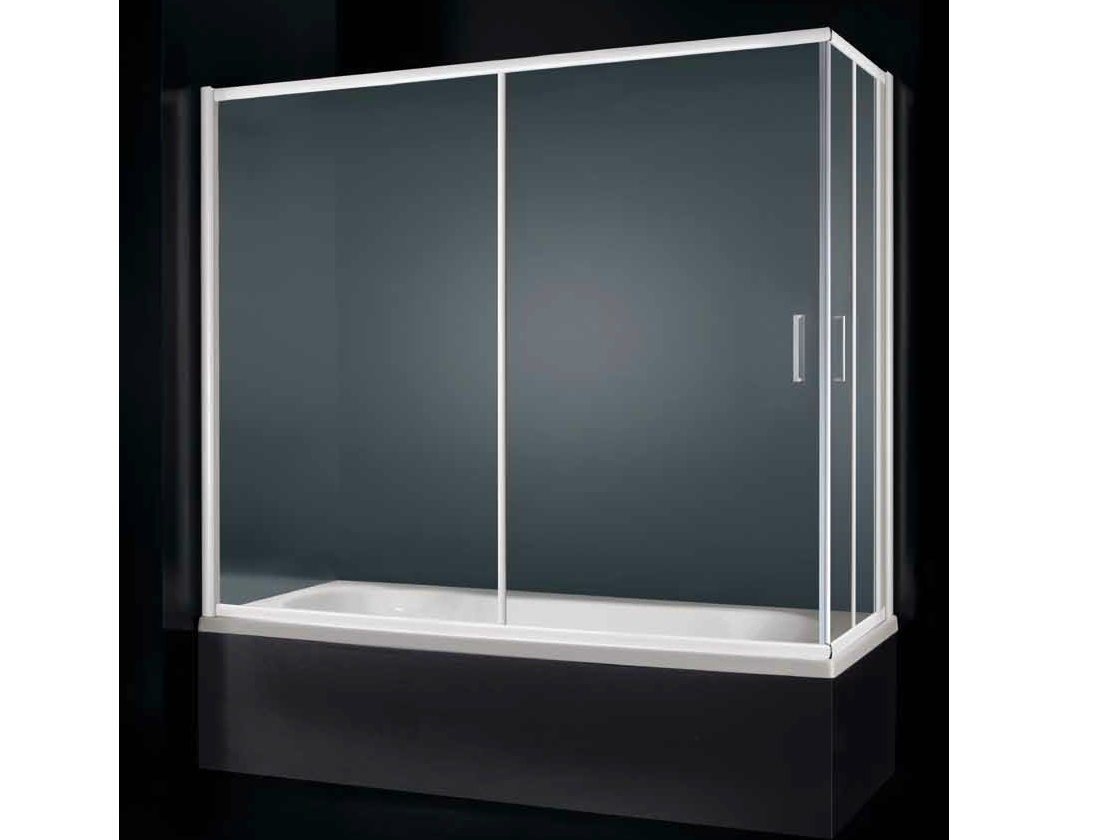 Parete per vasca con apertura scorrevole glass d03 by rare - Parete per vasca ...