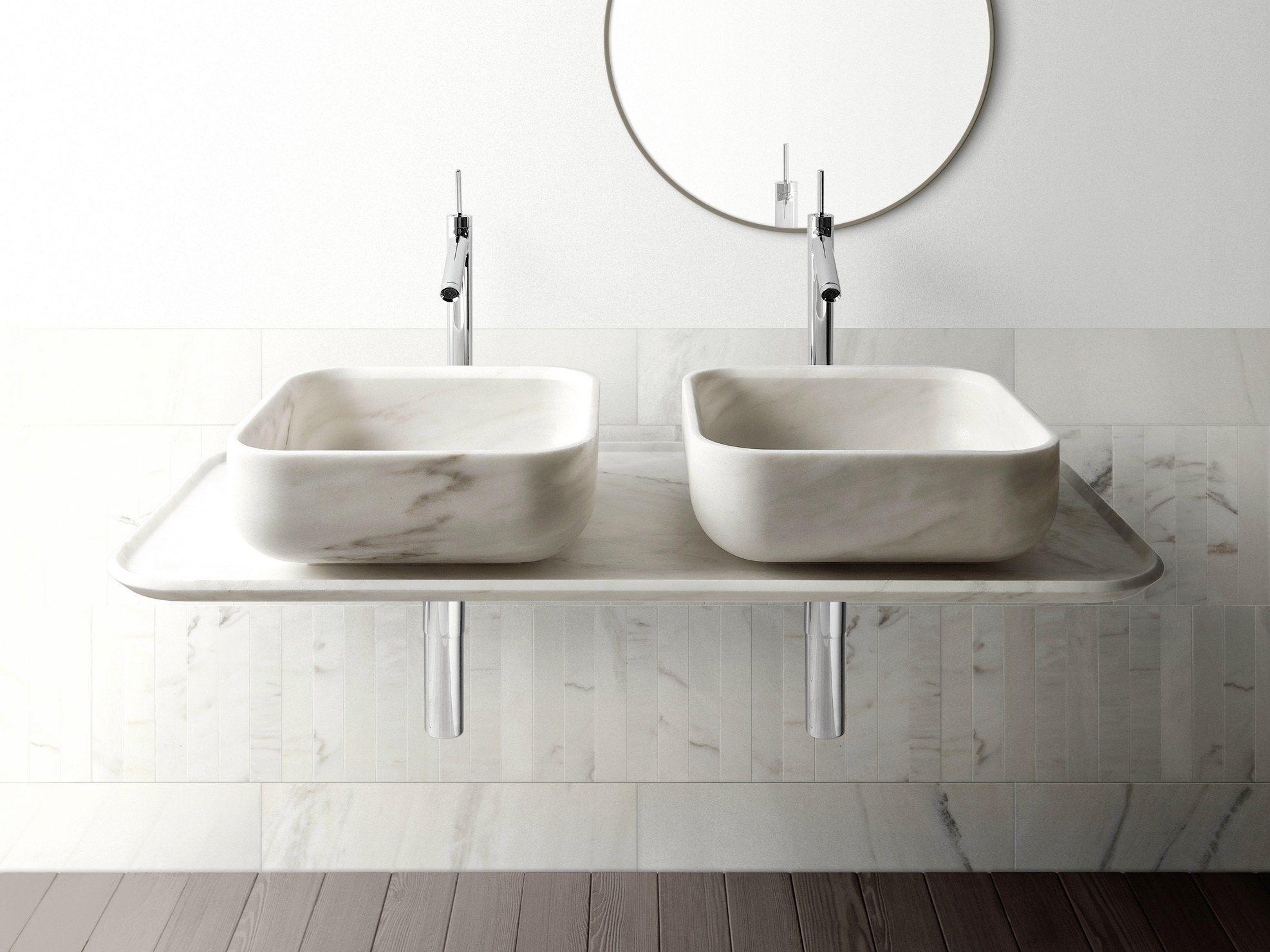 Lavabo sobre encimera cuadrado de m rmol bowl n 3 for Lavabos cuadrados sobre encimera