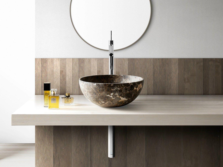 Lavabo sobre encimera redondo de m rmol bowl n 4 colecci n for Lavabo redondo sobre encimera