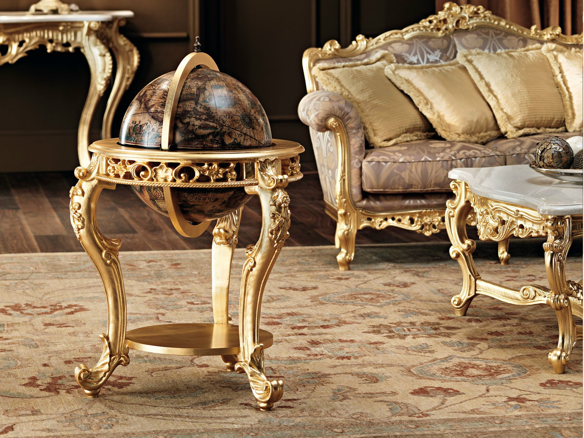 meuble bar de style baroque 11642 globe bar by modenese. Black Bedroom Furniture Sets. Home Design Ideas