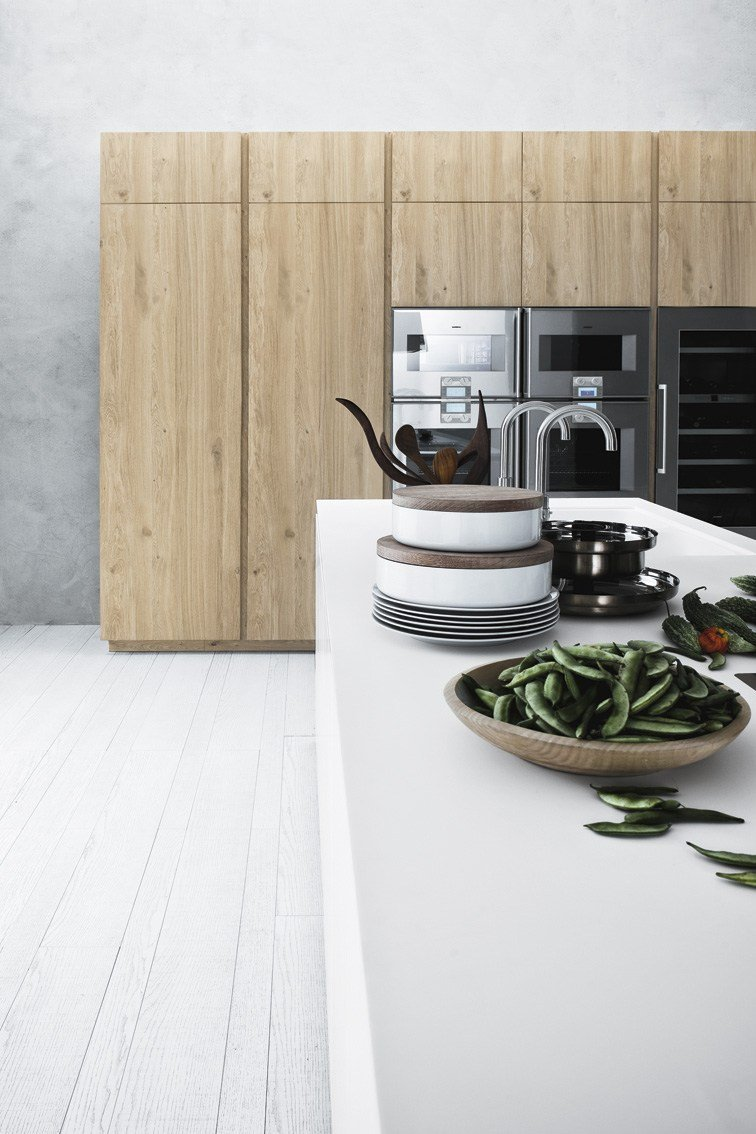 Fitted kitchen with island without handles CLOE - COMPOSITION 4 by ...