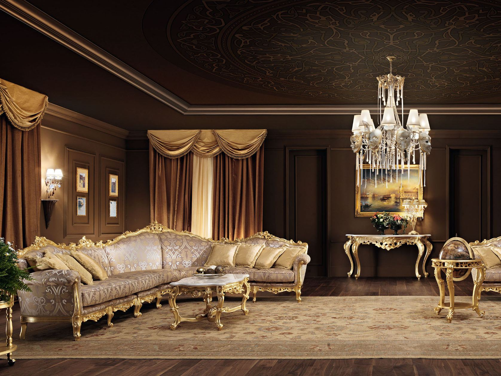 11401 sofa by modenese gastone group for Classic home villa collection