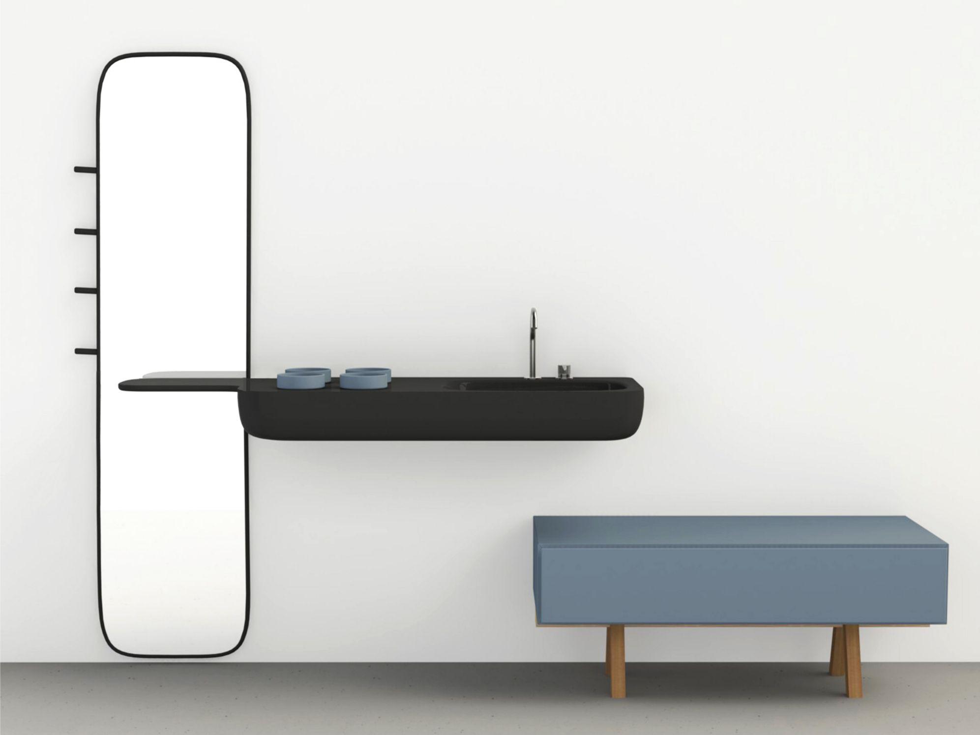 Mobile bagno basso con cassetti collezione esperanto by - Mobile basso bagno ...