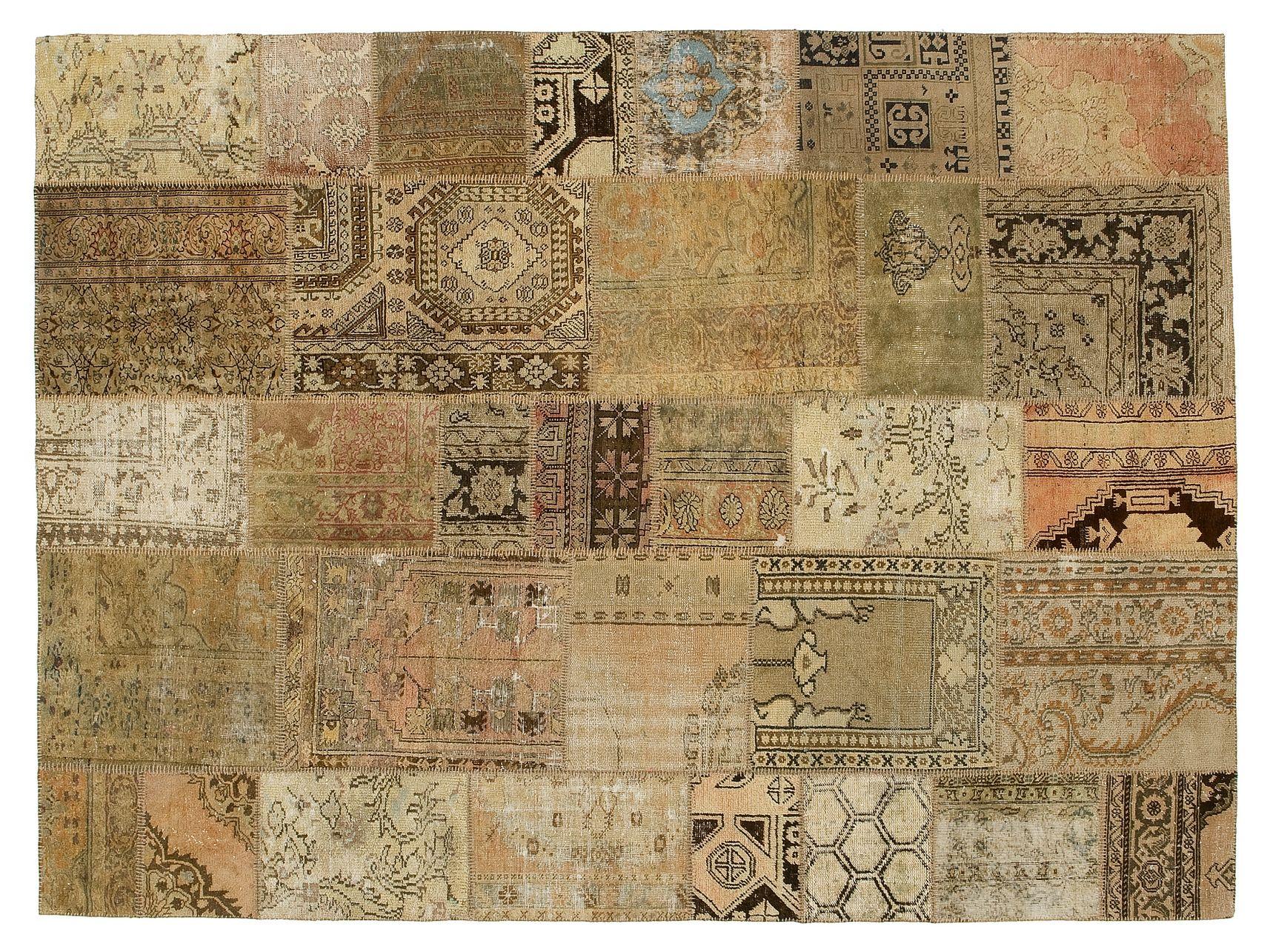 Tappeto fatto a mano patchwork beige by golran - Tappeti per cucine ...