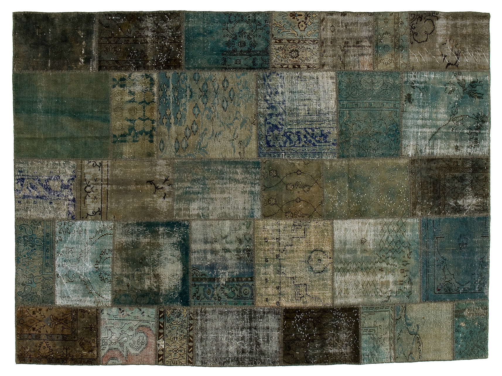 Tapete Patchwork Vintage : Yellow Grey Rug Patchwork Teal