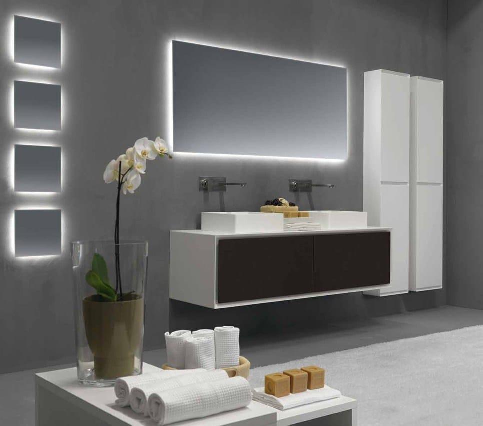 Rectangular bathroom mirror 2hd by rifra for Rectangular bathroom designs