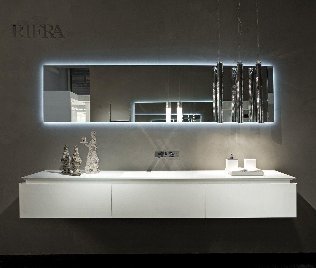 Espelho retangular para banheiro 2HD by RIFRA #556977 1095x928 Banheiro Autocad 3d
