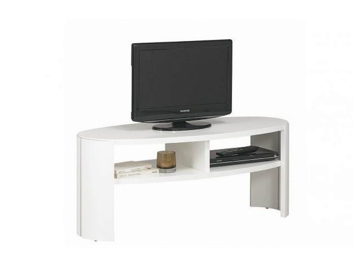 Meuble tv table basse en bois collection dovea by for Gautier meuble tv