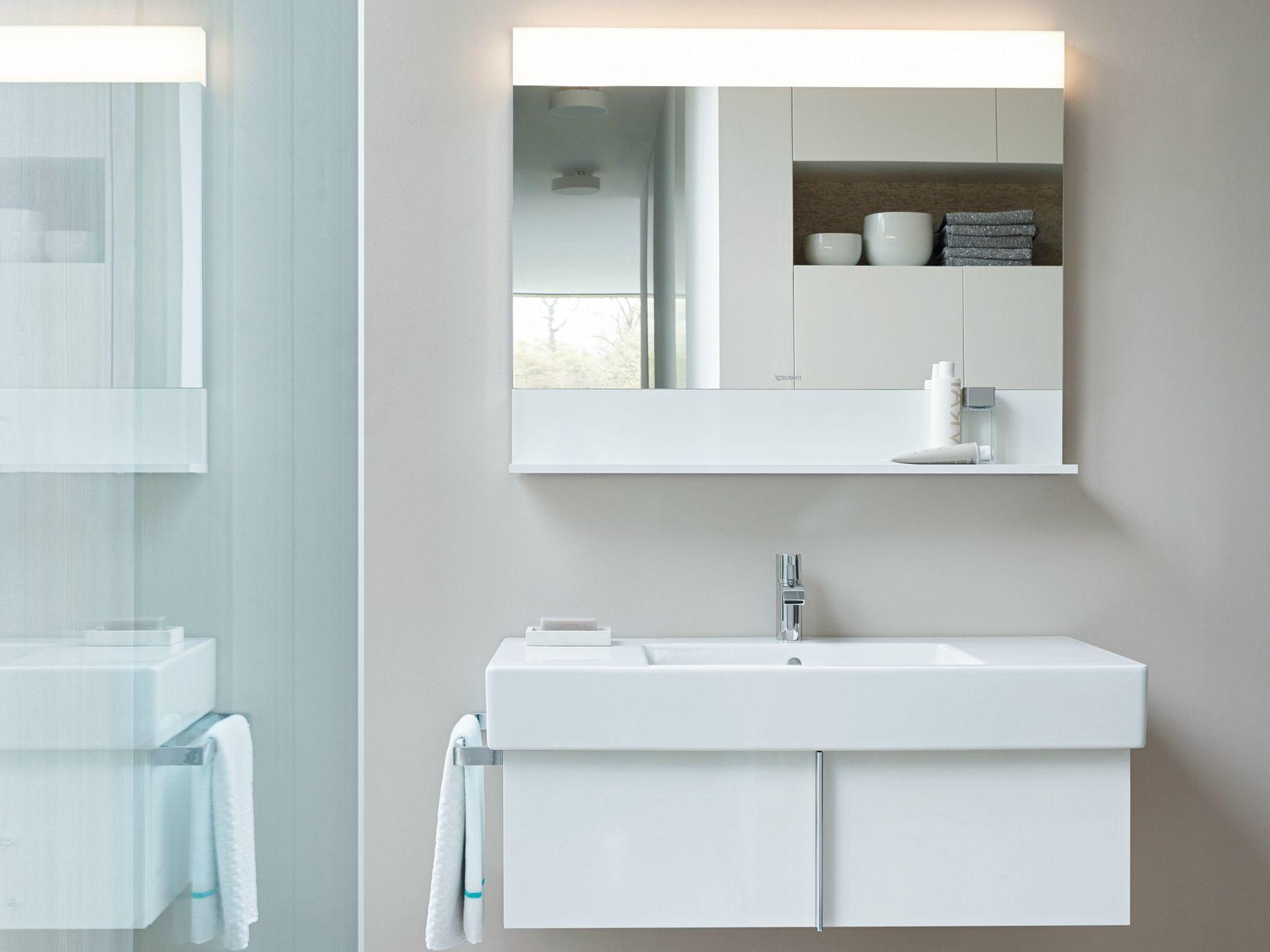 Modern bathroom vanity lighting - Vero Vanity Unit With Drawers By Duravit Design Kurt Merki Jr
